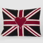 JR117 Oblong Union Jack Cushion(Black)