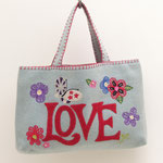 BA26 Floral Love Bag(Duck Egg Blue)