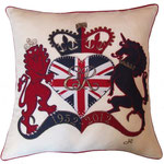 JR455 Lion & Unicorn Cushion(Cream)