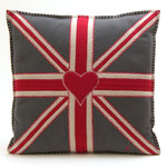 JR141Union Jack Square Cushion(Gray)