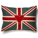 JR117 Oblong Union Jack Cushion(Gray)