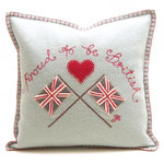 JR237 Proud to be British Cushion(Duck Egg Blue)