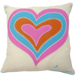 JR377 Psychedelic Heart Cushion(Cream)