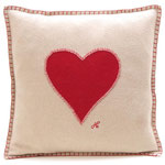JR118 Heart Cushion(Cream)