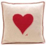 JR118 Heart Cushion(Cream)