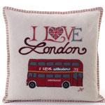 JR252 London Bus Cushion(Cream)