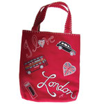BA31 I Love London Tote Bag(Red)