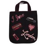 BA31 I Love London Tote Bag(Black)