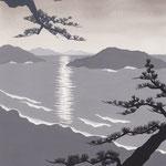 「風かおる」葉室麟・月刊誌扉絵・第7話原画、2014