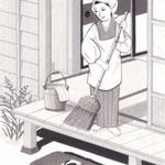 「週刊君曜日」3月7日号掲載・主婦と科学、挿絵