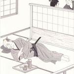 挿絵練習2「白い猫」池波正太郎