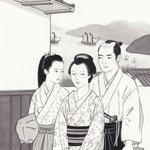 挿絵練習1・「潮騒はるか」葉室麟 2016