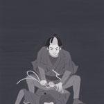 挿絵練習2・野口卓「闇の黒猫」から