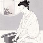 「風かおる」葉室麟・月刊誌扉絵・第1話原画、2014