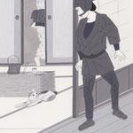 挿絵練習3・野口卓「闇の黒猫」から、2015