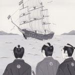 「風かおる」葉室麟・月刊誌扉絵・第6話原画