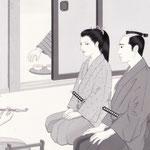 「風かおる」葉室麟・月刊誌扉絵・第2話原画