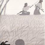 挿絵練習1「藤枝梅安」池波正太郎、2012