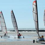 Char à voile à Quend-plage côte Picarde
