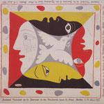 Foulard du Festival Mondial de la Jeunesse et des Etudiantspour la Paix à Berlin - PICASSO 1951