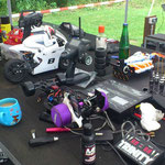 Unter den F1 Fahrzeugen befinden sich auch RC-Bike`s im M 1:5