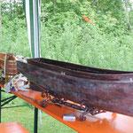 das Dampfschiff noch ohne die Einbauten