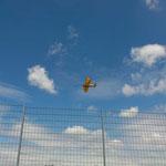 Doppeldecker-Schulflugzeug, die Boeing Stearman