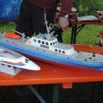 nochmal die Helgoland und ein Mini-ECO-Rennboot