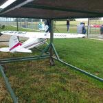 Cessna 195 mit Saito 3-Zylinder-Sternmotor u. 90 ccm, geht viel besser als gedacht