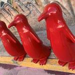 """""""Pingüinos"""" fibra de vidrio"""