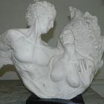 """""""Los amantes"""" Imitación marmol"""