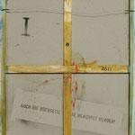 Vorderseite I, Acryl-/Mischtechnik auf Leinwand, 100 x 80 cm