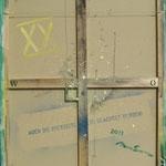 Vorderseite XX, Acryl-/Mischtechnik auf Leinwand, 100 x 80 cm