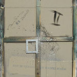 Vorderseite II, Acryl-/Mischtechnik auf Leinwand, 100 x 80 cm
