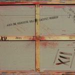 Vorderseite XII, Acryl-/Mischtechnik auf Leinwand, 80 x 100 cm