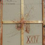 Vorderseite XXIV, Acryl-/Mischtechnik auf Leinwand, 100 x 80 cm