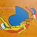 Rückseite XXII, Acryl-/Mischtechnik auf Leinwand, 80 x 100 cm