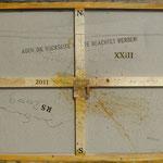 Vorderseite XXIII, Acryl-/Mischtechnik auf Leinwand, 80 x 100 cm