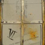 Vorderseite VI, Acryl-/Mischtechnik auf Leinwand, 100 x 80 cm