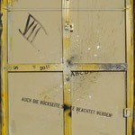 Vorderseite VII, Acryl-/Mischtechnik auf Leinwand, 100 x 80 cm