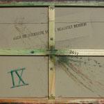 Vorderseite IX, Acryl-/Mischtechnik auf Leinwand, 80 x 100 cm