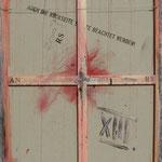 Vorderseite XIII, Acryl-/Mischtechnik auf Leinwand, 100 x 80 cm