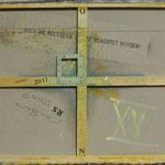 Vorderseite XV, Acryl-/Mischtechnik auf Leinwand, 80 x 100 cm