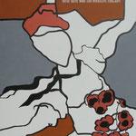 Rückseite XXIV, Acryl-/Mischtechnik auf Leinwand, 100 x 80 cm