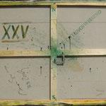 Vorderseite XXV, Acryl-/Mischtechnik auf Leinwand, 80 x 100 cm