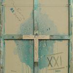Vorderseite XXI, Acryl-/Mischtechnik auf Leinwand, 100 x 80 cm