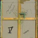 Vorderseite V, Acryl-/Mischtechnik auf Leinwand, 100 x 80 cm