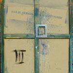 Vorderseite III, Acryl-/Mischtechnik auf Leinwand, 100 x 80 cm