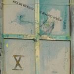 Vorderseite X, Acryl-/Mischtechnik auf Leinwand, 100 x 80 cm