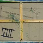 Vorderseite VIII, Acryl-/Mischtechnik auf Leinwand, 80 x 100 cm